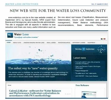 Water Loss Detectives – Magazin koji se bavi problematikom gubitaka vode