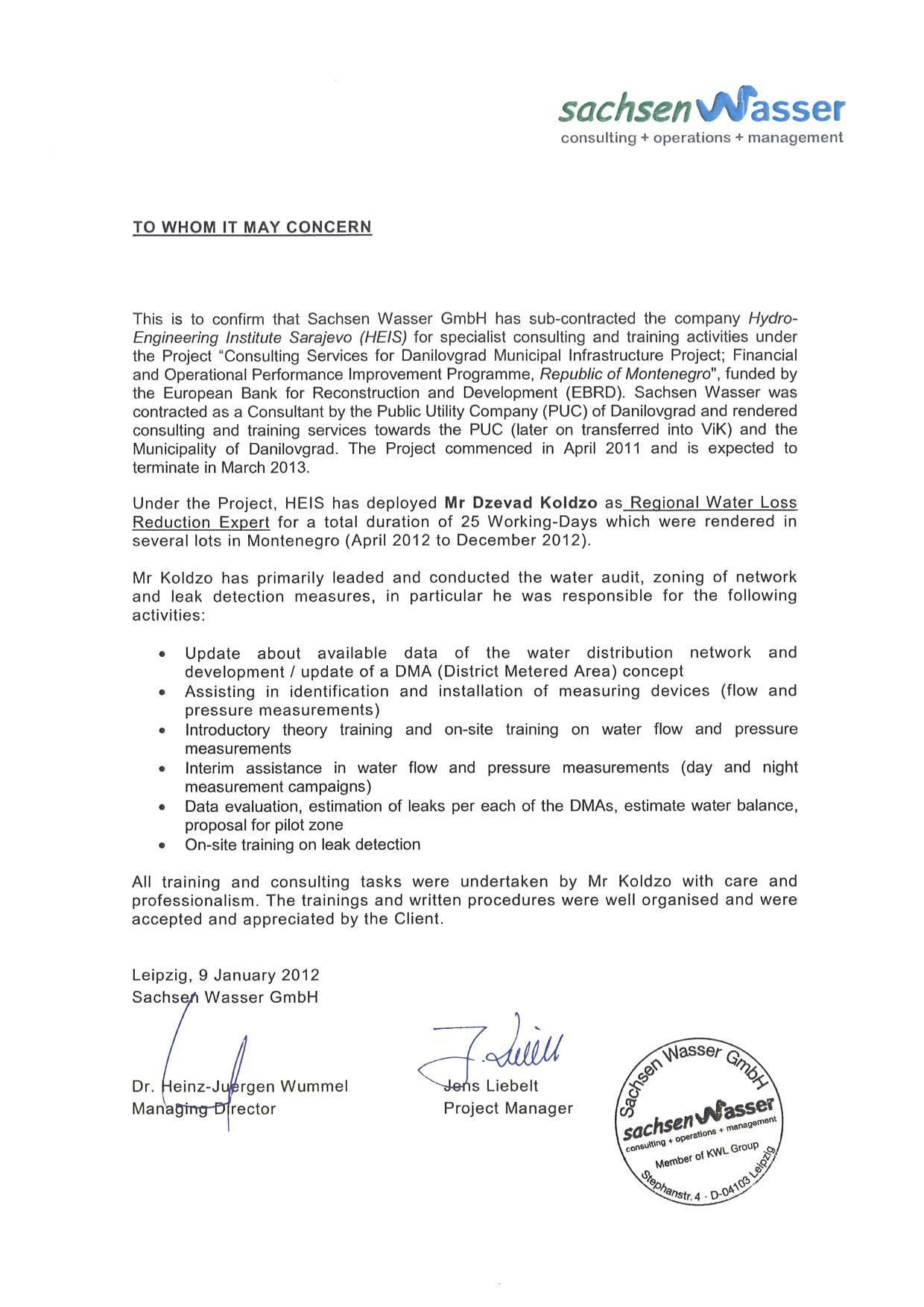 SW Statement Danilovgrad